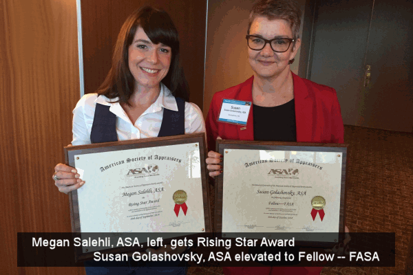 Megan and Susan get awards