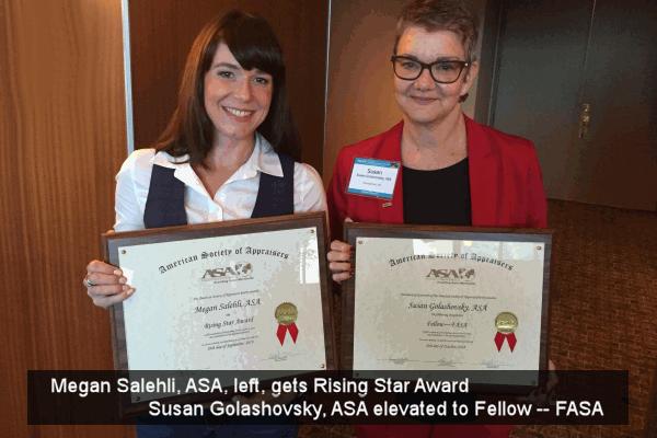 Megan and Susan get awards